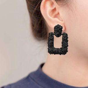 NWT geometric stud earrings in black